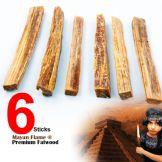 S4U® MAYAN FLAME™ 6 pcs FATWOOD 100% NATURAL FIRESTARTER